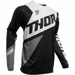 Maillot moto cross homme Thor Sector Blade noir / blanc