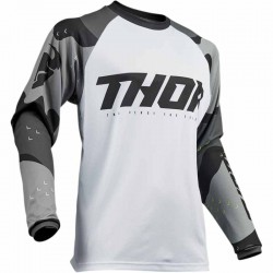 Maillot moto cross homme Thor Sector Camo gris