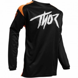 Maillot moto cross homme Thor Sector Link noir / orange