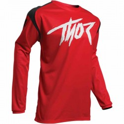 Maillot moto cross homme Thor Sector Link rouge / noir