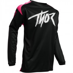Maillot moto cross homme Thor Sector Link noir / rose