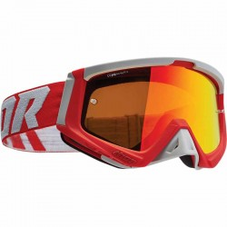 Lunette masque moto cross Thor Sniper rouge / gris