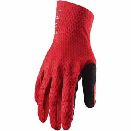 Gants moto cross Thor Agile Rouge