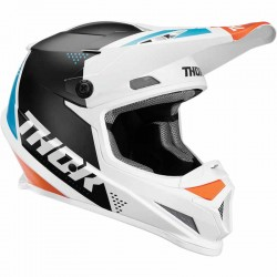 Casque moto cross Thor Sector Blade Blanc / Aqua