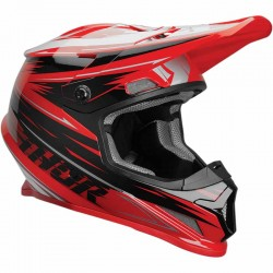 Casque moto cross Thor Sector Warp Rouge / Noir