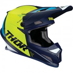 Casque moto cross Thor Sector Blade Bleu marine / Acid