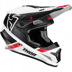 Casque moto cross Thor Sector Split Mips Blanc / Noir