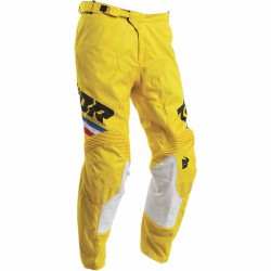 Pantalon moto cross homme Thor Pulse Pinner Jaune / Noir