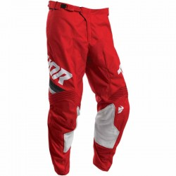 Pantalon moto cross homme Thor Pulse Pinner Rouge / Blanc