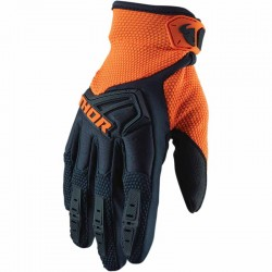 Gants moto cross homme Thor Spectrum Bleu nuit / Orange