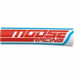 Mousse de guidon Moosse Racing moto cross tout-terrain Rouge / Blanc / Bleu