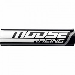 Mousse de guidon Moose Racing moto cross tout-terrain Noir / Blanc / Gris