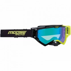 Lunette masque moto cross Moose Racing XCR Hatch Noir / Jaune fluo