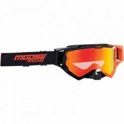 Lunette masque moto cross Moose Racing XCR Hatch Noir / Orange