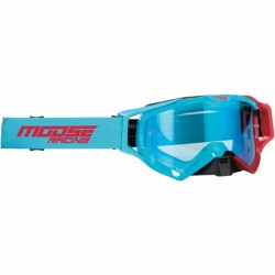 Lunette masque moto cross Moose Racing XCR Hatch Bleu / Rouge