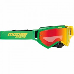 Lunette masque moto cross Moose Racing XCR Hatch Vert / Jaune