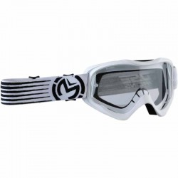 Lunette masque moto cross Moose Racing Qualifier Slash Blanc / Noir
