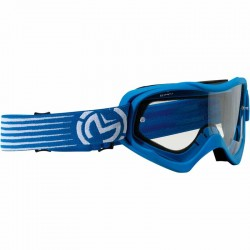 Lunette masque moto cross Moose Racing Qualifier Slash Bleu / Blanc