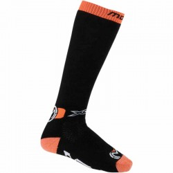Paire de chaussette longue moto cross Moose Racing XCR Noir/Orange
