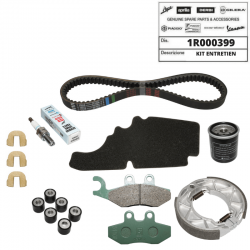 Kit entretien origine Piaggio FLY 125 courroie filtre frein bougie galet guide