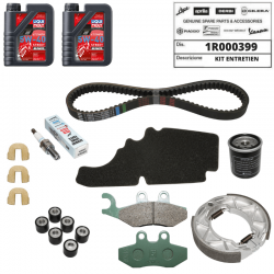 Kit entretien origine Piaggio FLY 125 huile courroie filtre frein bougie galet guide