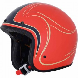Casque jet moto AFX FX76 Claymore vintage orange / bleu / beige