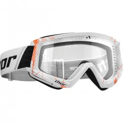 LUNETTE MASQUE MOTO CROSS THOR COMBAT WEB ORANGE / BLANC