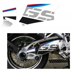 Kit déco autocollant bras oscillant Uniracing BMW R1200GS / GS Adventure - Blanc