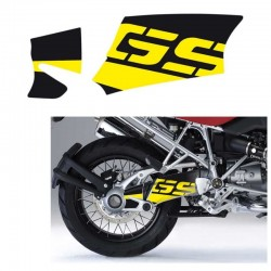 Kit déco autocollant bras oscillant Uniracing BMW R1200GS / Adventure 04-12 - Jaune