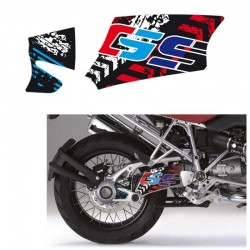Kit déco autocollant bras oscillant Uniracing BMW R1200GS / Adventure 04-12 - Grunge