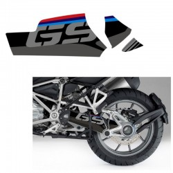 Kit déco autocollant bras oscillant Uniracing BMW R1200GS / Adventure 13-18 - Noir