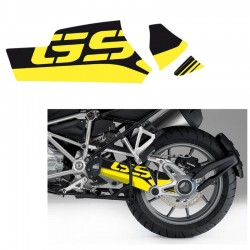 Kit déco autocollant bras oscillant Uniracing BMW R1200GS/Adventure 13-18-Jaune