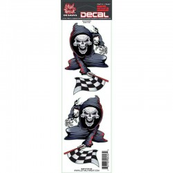 Kit Stickers autocollant pour moto Lethal Threat Race Reaper 7.6 x 18 cm
