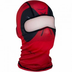 Cagoule moto Zan Headgear Red dawn - Noir/Rouge