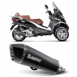 Silencieux Slip-On Akrapovic inox noir Gilera Fuoco 500 Piaggio MP3 400 / 500