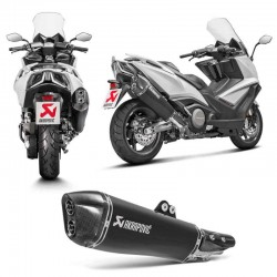 Silencieux Slip-On Akrapovic inox Honda AK 550 2017 à 2020