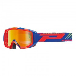 Lunette masque moto cross Progrip 3200 FL Venom Orange/Bleu - Enduro MX