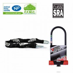 Kit antivol Classe SRA Vector chaine 1.30 M + U Super Max MC XXXL