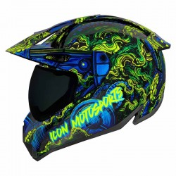 Casque moto intégral Icon Variant Pro Willy Pete bleu