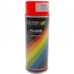 Bombe peinture Motip 04020 rouge orange fluo fluorescent 400 ml