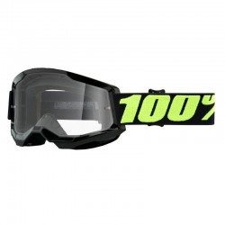 Masque lunette cross 100% Strata 2 Upsol Noir écran transparent