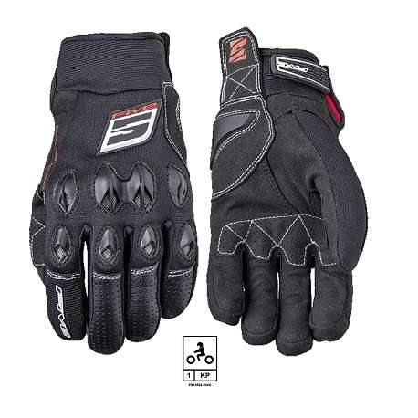 gants moto noir five stunt evo lite coqu mi saison t homologu en 13594 2015 vospieces2roues. Black Bedroom Furniture Sets. Home Design Ideas