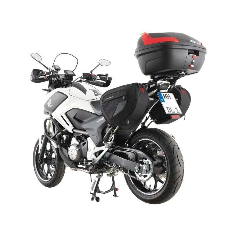 top case givi e340 noir avec catadioptres monolock 34l pour moto scooter vospieces2roues. Black Bedroom Furniture Sets. Home Design Ideas