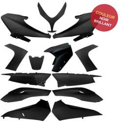 KIT CARENAGE PLASTIQUE 13 PIECES NOIR BLACK BRILLANT YAMAHA TMAX T MAX 500 2008-2012