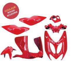 KIT CARENAGE PLASTIQUE 7 PIECES ROUGE SCUDERIA MBK NITRO YAMAHA AEROX 1997-2012