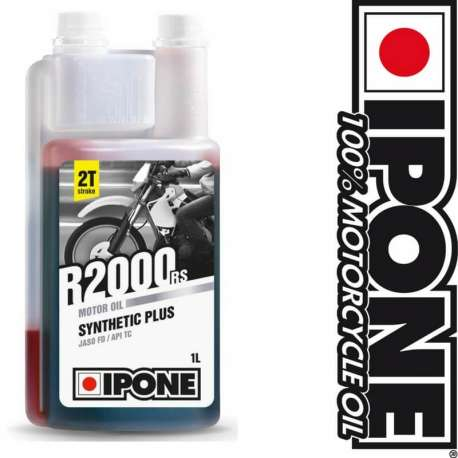 HUILE MOTEUR IPONE R2000 RS SEMI-SYNTHÈSE - 2 TEMPS - 1 LITRE - MOTO SCOOTER