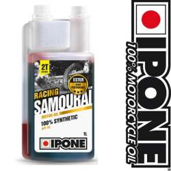 HUILE MOTEUR IPONE SAMOURAI RACING 100% SYNTHESE - 2 TEMPS -1 LITRE MOTO-SCOOTER