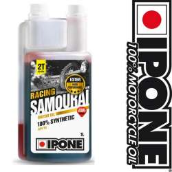 HUILE MOTEUR IPONE SAMOURAI RACING 100% SYNTHESE FRAISE- 2TEMPS-1 L MOTO-SCOOTER