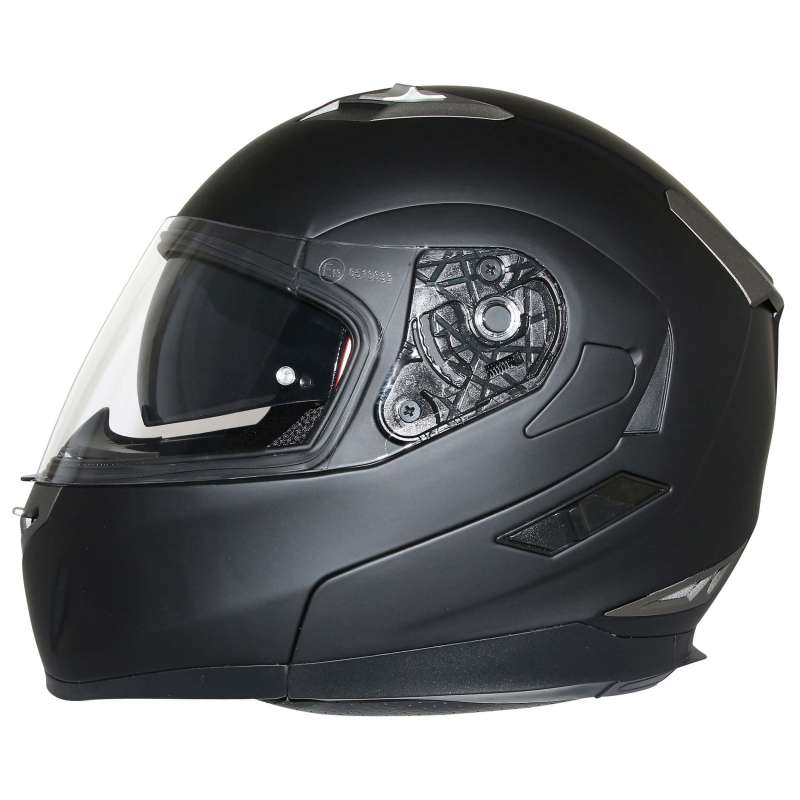 casque integral modulable moto scooter mt helmets flux solid double ecran noir mat vospieces2roues. Black Bedroom Furniture Sets. Home Design Ideas