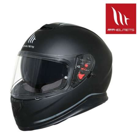 CASQUE INTEGRAL MOTO SCOOTER MT HELMETS THUNDER 3 SV SOLID NOIR MAT